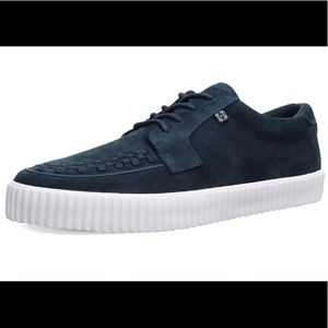 TUK Navy Blue Suede Sneaker Creepers EZC Shoes 8